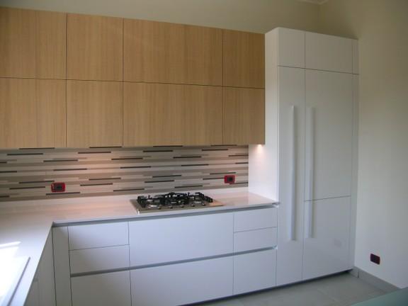 cucina ernestomeda modello one in laminato bianco lucido